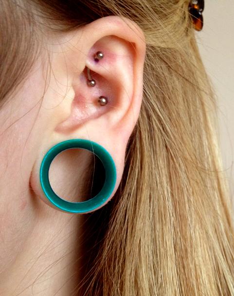 Blackline Double Flared Ear Tunnel Piercing Jewellery